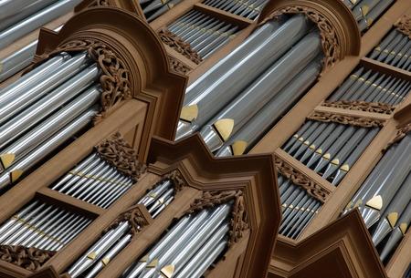 pipe organ: Old large pipe organ in a catholic church