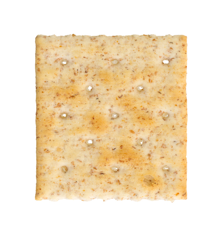 Small cracker isolated on a white background
