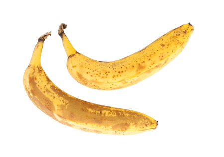 moulder: Bunch of over ripe bananas, isolated on white