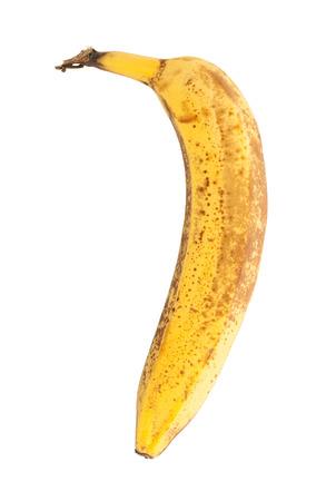 moulder: Over ripe banana, isolated on white background Stock Photo
