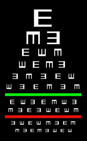 eyesight: Eyesight concept - Test chart, symbols getting smaller - Good eyesight