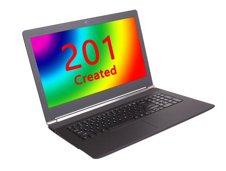 webserver: HTTP Status code on a laptop screen  - 201, Created