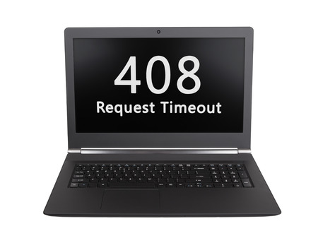 timeout: HTTP Status code on a laptop screen  - 408, Request Timeout