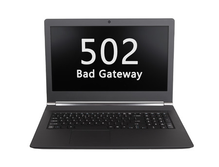 http: HTTP Status code on a laptop screen  - 502, Bad Gateway