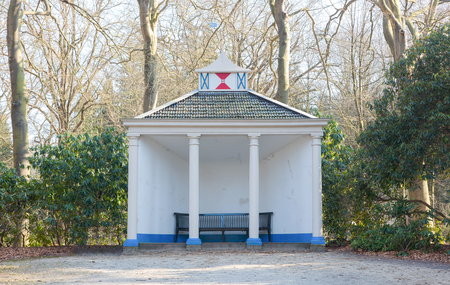 entrance arbor: Very old gazebo in the dutch landscape
