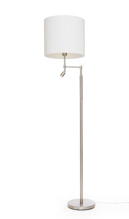 흰 바닥 램프, 흰색 배경에 고립 된 스톡 콘텐츠