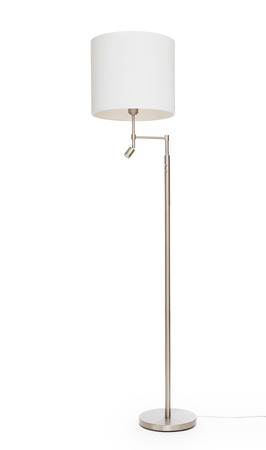 floor lamp: White floor lamp, isolated on white background