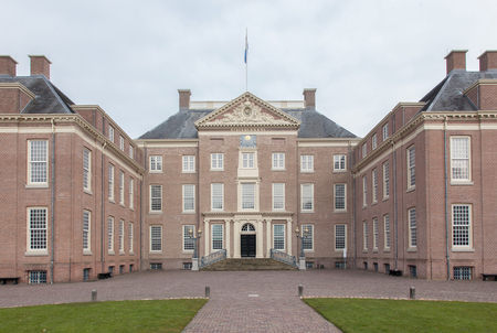 loo: Apeldoorn, Holland, March 6, 2016: Front view of the royal palace Het Loo