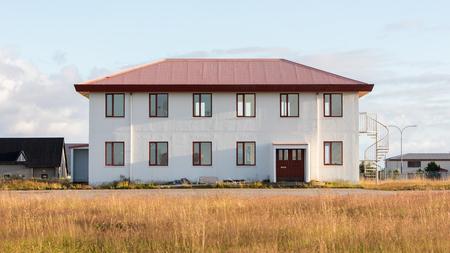 usaf: Abandoned building on an former USAF base on Iceland Stock Photo