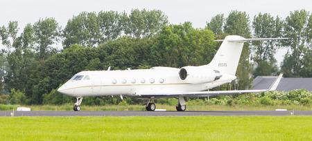 LEEUWARDEN, THE NETHERLANDS - JUNE 10: Air Force Gulfstream Aerospace C-20H Gulfstream IV during the Dutch Air Force Open House. June 10, 2016 in Leeuwarden, The Netherlands