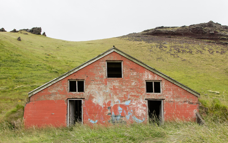 Old abandoned farmhouse in the west of Iceland Stock Photo