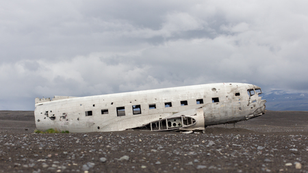 us military: The abandoned wreck of a US military plane on Solheimasandur beach near Vik, Southern Iceland