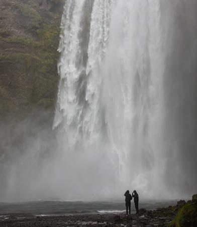 skogafoss waterfall: Skogafoss waterfall, one of the bigger waterfalls in Iceland Stock Photo