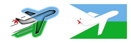 djibouti: Nation flag - Airplane isolated on white - Djibouti Stock Photo