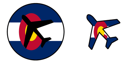 flag of colorado: Nation flag - Airplane isolated on white - Colorado,