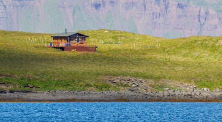 lonelyness: Single house on an small island at the westcoast of Iceland