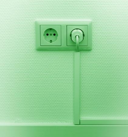 European power socket in a dutch house Stock Photo