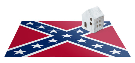 Small house on a flag - Confederate flag