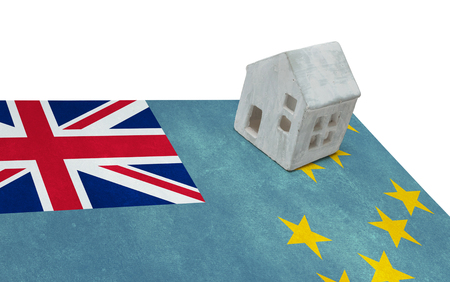 Small house on a flag - Living or migrating to Tuvalu
