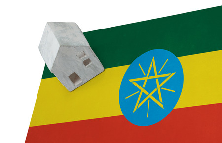 national flag ethiopia: Small house on a flag - Living or migrating to Ethiopia