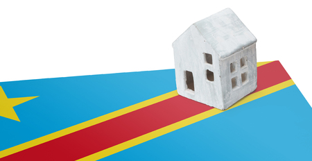 Small house on a flag - Living or migrating to Congo