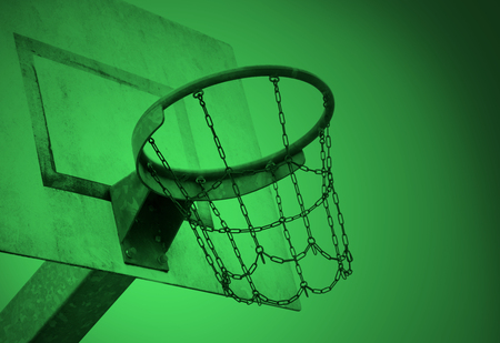 Basketball court in an old jail, the Netherlands, green
