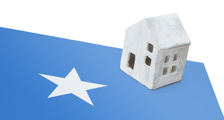 Small house on a flag - Living or migrating to Somalia