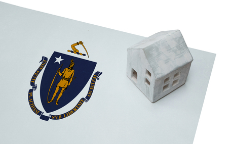 Small house on a flag - Living or migrating to Massachusetts