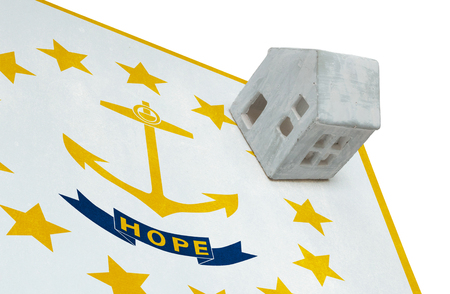 Small house on a flag - Living or migrating to Rhode Island