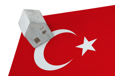 Small house on a flag - Living or migrating to Turkey