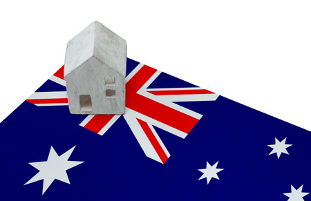 Small house on a flag - Living or migrating to Australia