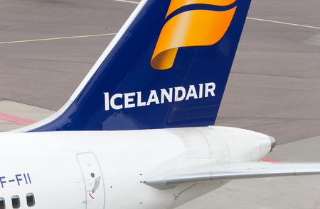 Schiphol, The Netherlands on June 29, 2017; Icelandair Airlines Boeing 757 tail livery at at Schiphol on 29 june 2017.
