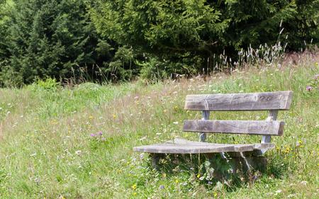 Simple bench in the Alps, Tirol, Austria