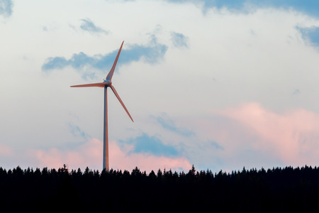 Modern Wind Turbine in the summer - Germany