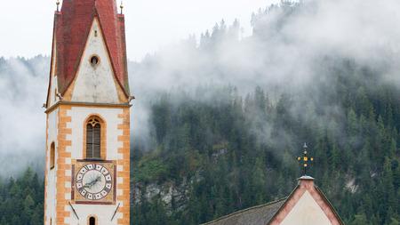 The old church of Nauders, a village in Tirol, Austria