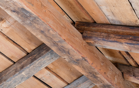Wooden contruction on an old house in Austria