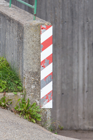Traffic sign on a corner - Selective focus