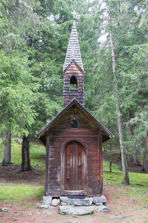 Small abandoned church in the Alps - Austria Stock Photo