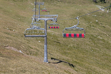 ropeway: Ski lift cable booth or car, Austria in summer