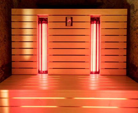 The infrared sauna to improve the health and beauty Reklamní fotografie - 86943383