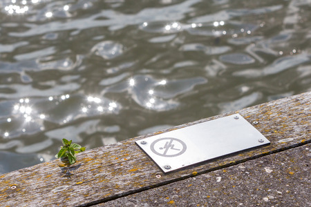 Diving is forbidden - Open water in the Netherlands Stock Photo
