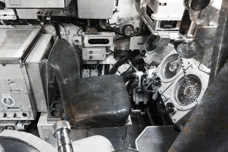Interior of an old submarine - Limited space and lots of equipment - Command room