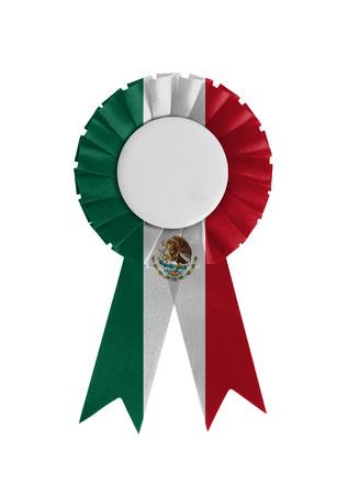 Award ribbon isolated on a white background, Mexico Stock Photo