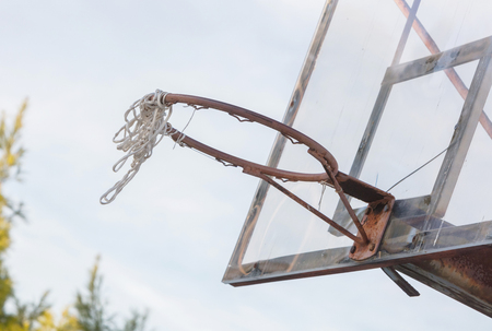 Abandoned basketball court Greece - Not in use anymore