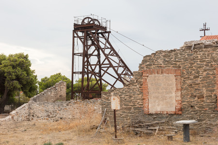 Small abandoned mine in Greece - Rusted material
