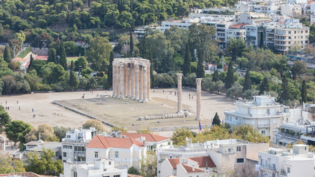Temple of Zeus, Athens - View from the Acropolis Éditoriale