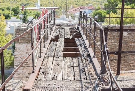 Old broken bridge at a Greek mine