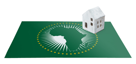 Small house on a flag - Living or migrating to African Union