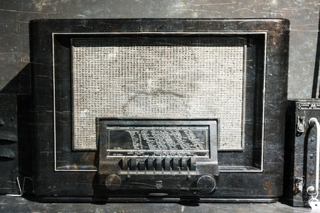 Old retro radio from the WW2 period