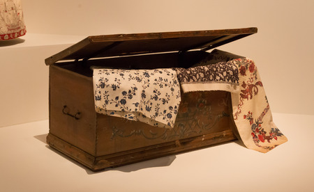 Old wooden chest used for clothes - The Netherlands